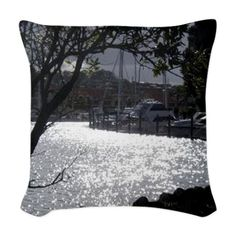 Marine Woven Throw Pillow on CafePress.com