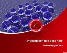 3D Spheres Leadership PowerPoint Template #PowerPoint #templates #spheres