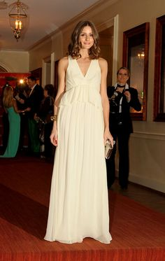 Olivia Palermo in the Arabella peplum gown. Tibi's 25 Best Dressed of 2012: Re-Pin To Win Sweepstakes, enter here: http://www.tibi.com/blog/2012/12/17/re-pin-to-win-sweepstakes/