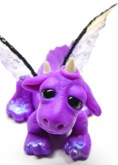 "Ooak Handmade Polymer Clay Baby Dragon ""Zarion"" Fantasy Art Doll. $30.00, via Etsy."