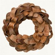 Mahogany wreath from Terrain