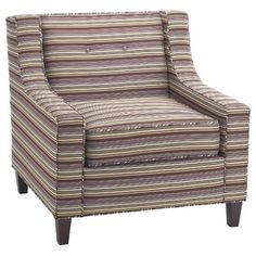 Hekman Olivia Chair in Multi-Colored Stripes