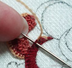 Crewel Embroidery Flower Tutorial embroideri flower, flower tutorial, embroidery flowers tutorial