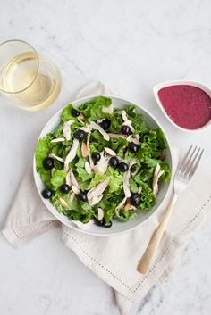 Blueberry Chicken Salad with Berry Vinaigrette