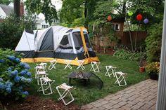 birthday parties, awesom birthday, backyard camping, camping birthday, baby boy birthday, summer birthday, parti idea, kid parties, birthday ideas