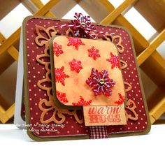 Sweet 'n Sassy Stamps: ~ Warm Hugs on a cold winter day ~ Snowflake Flourish Stamps