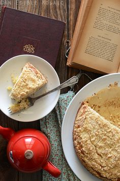 Pineapple Cardamom Coffee Cake with Coconut Crumb Topping