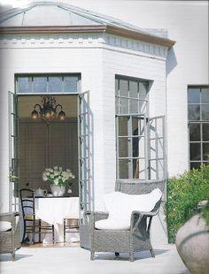 breakfast room windows open to patio - Babs Watkins interior design