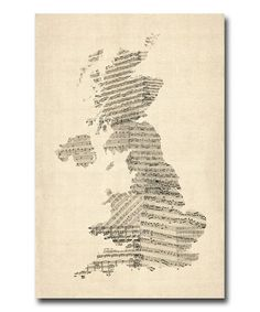 This UK Music Map Gallery-Wrapped Canvas by Michael Tompsett is perfect! #zulilyfinds