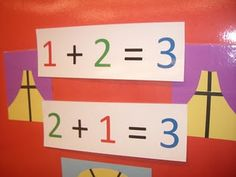 Sing the song of the Commutative Property for First or Second Grade.