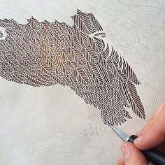 maude white papercut