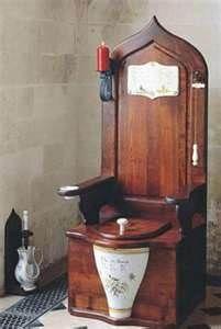 antique toilet....