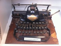 From the American Press Institute collection of antique typewriters: Blickensderfer, early 1900s.