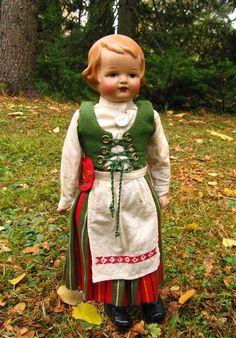 Finnish doll. Kirkkonummi costume.
