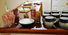 fave things party, with a hot chocolate bar!