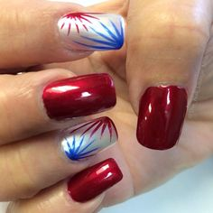 the_nail_lounge_miramar's 4th of July nail inspo. Tag yours with #SephoraNailspotting for the chance to be featured! #Sephora #nails #nailpolish