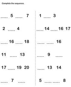 continua la seqüència de nombres