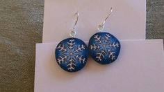 Polymer clay snowflake earrings | MarquisCreations - Jewelry on ArtFire