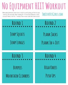 No Equipment HIIT