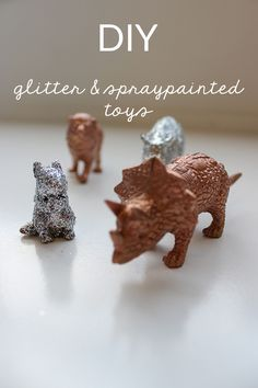 A-Lovely-Look-Decorating-Toy-Animals-and-Cars-Copper-and-Silver-Glitter-2