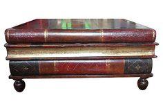 Stack of Leather Books Coffee Table, $1495.00, on OneKingsLane.com