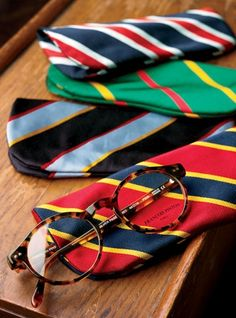 Fashion Piece: Glasses Cases old ties, diy ideas, sew bags, sewing machines, glass case, preppy, neck ties, stripe, diy projects