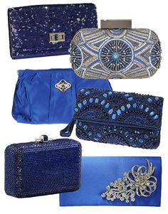 Something blue- bridal clutches #purse