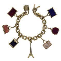 Louis Vuitton Gold Charm Bracelet |