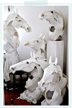 hermes, horses, annawili highfield, white, masks