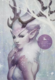 Reindeer+Princess+by+Stanley+'Artgerm'+Lau.jpg     Happy holidays, pinterest friends!!!