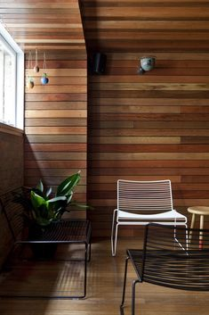 Wood panelled wall w