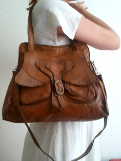 vintage bag butterfly circa 1970 brown vynile by lesclodettes, $45.00