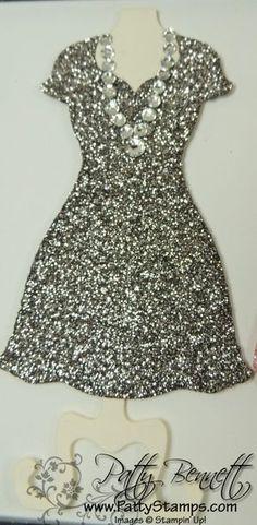 Dress frame 3 a black glimmer