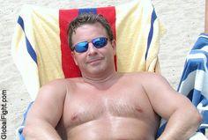 heavyset daddybear suntanning beach gay resort photos