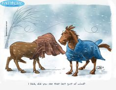 Horses in the Snow comic