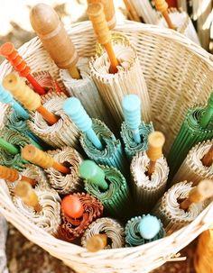 beach wedding parasol, basket, beach weddings