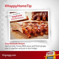 Need an easy marinade recipe for your next masterpiece? Check out these #HappyHomeTip suggestions from our followers!