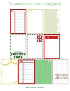 Cool December Daily Printables