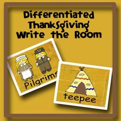 Differentiated Thanksgiving Write the Room from I Love Preschool on TeachersNotebook.com -  (7 pages)  - Fun Write the room activity to use in literacy centers during the month of November. Students search the room to find matches to the pictures they have on his/her recording sheet. They then write the word next to his/her picture clue.