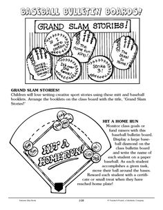 Get students excited for #spring with these fun #baseball #bulletin #board #ideas! #FREE