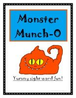 Monster Munch-O Sight Words Bingo Game: 6 Different Sight Word Bingo Boards perfect for a small group learning center! Everything that you need is included.  Monster Munch-O Sight Words Bingo – Click Here    Information: Sight Word Bingo Game, Monster Muncho Bingo