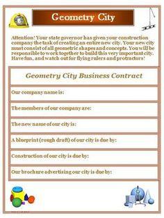 Geometry City Creative Activity