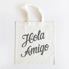 Hola Amigo Custom Tote Set of 20 - The Wedding Chicks Shop