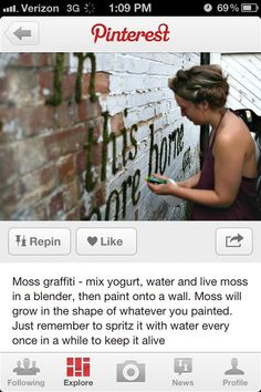 DIY Moss Graffiti