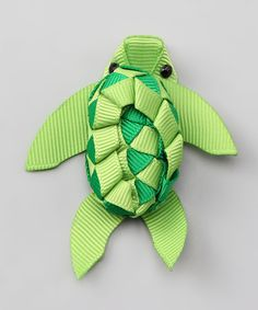 Look at this Bubbly Bows Green Sea Turtle Clip on #zulily today!