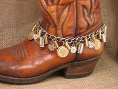 boot jewelri, metal boot, boot scootin, diy bullet jewelry, shotgun