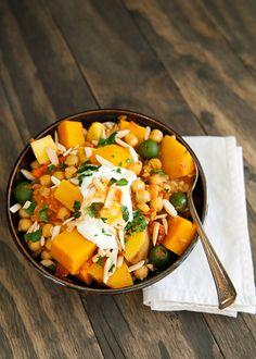 moroccan butternut squash chickpea stew