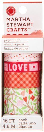 Hearts and Flowers Paper Tape