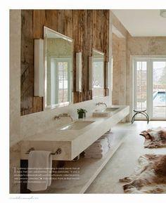 rustic chic modern bath