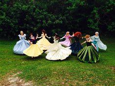 Twirling princesses